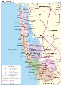 Alappuzha's map